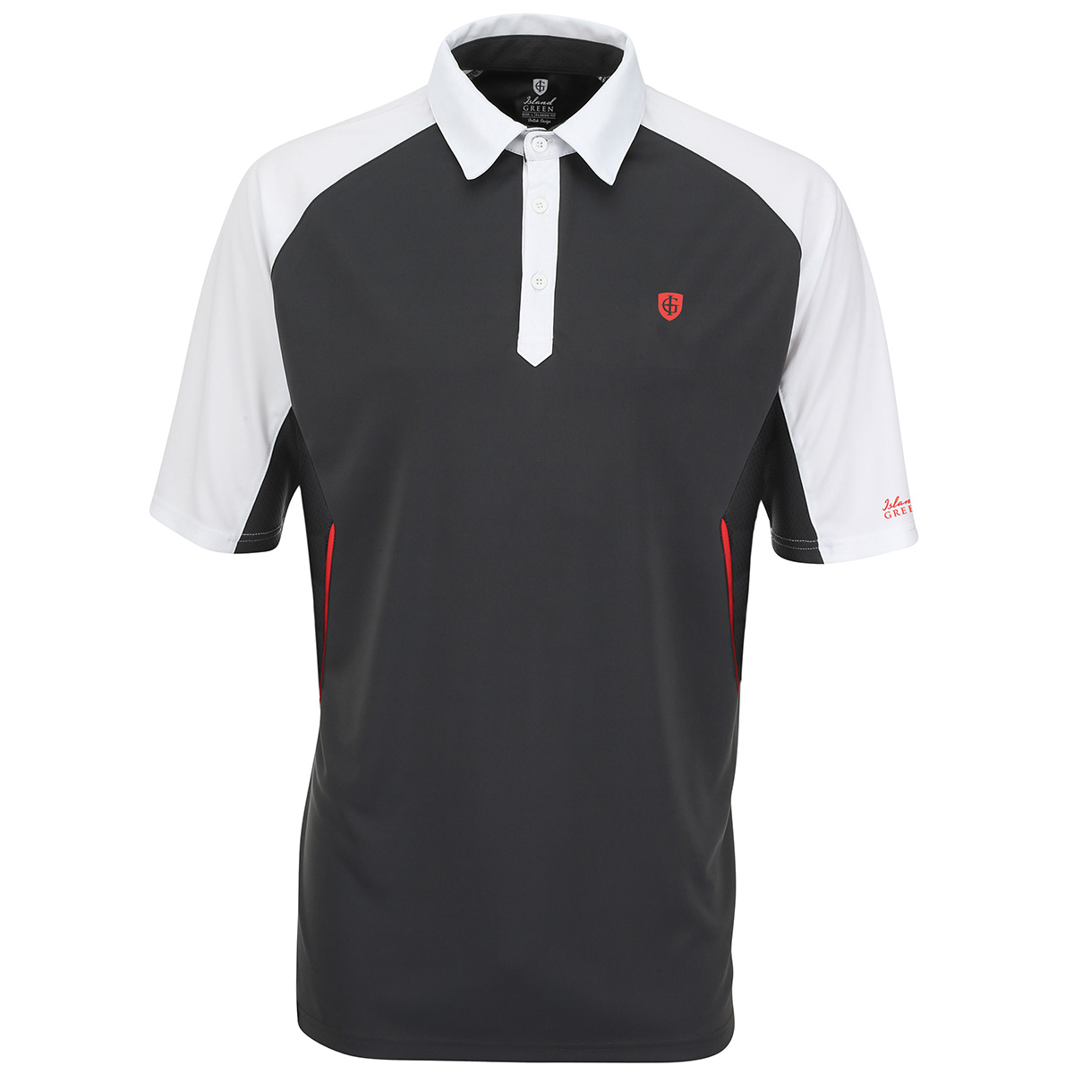 Island green 2016 mens igts1459 performance cool pass tech for Mens golf polo shirts
