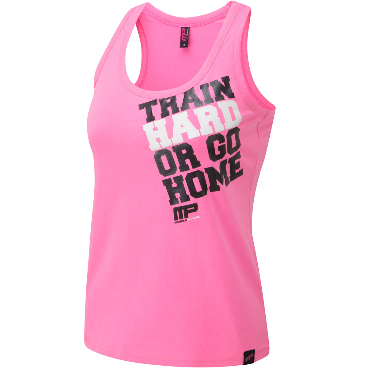 Musclepharm womens printed vest sleeveless t shirt gym for Gym printed t shirts