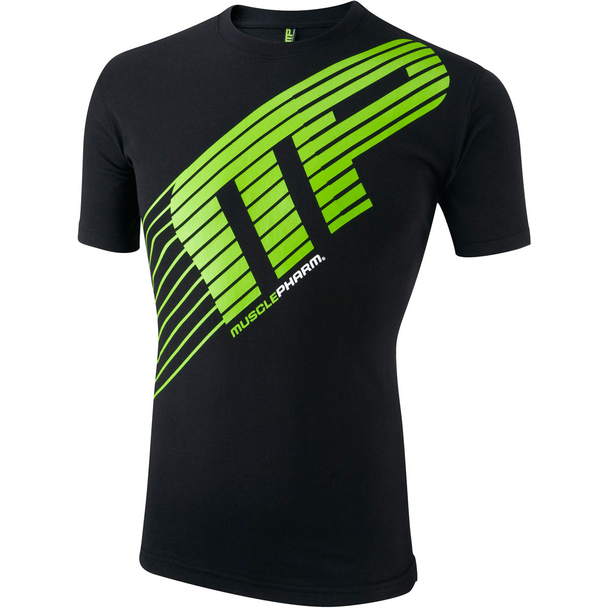 Musclepharm mens short sleeve printed t shirt gym cotton Fitness shirts for men