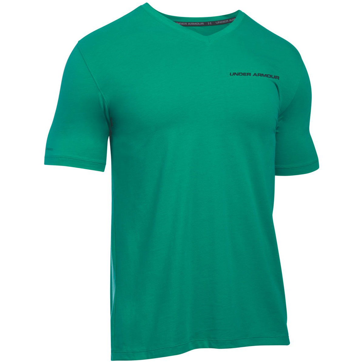 Under armour 2016 mens charged cotton v neck short sleeve for Under armour charged shirt
