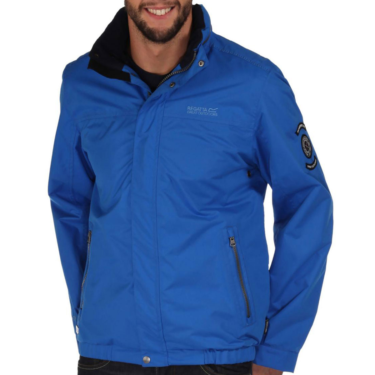 Regatta Mens Moran Waterproof Jacket RMW218 Hooded Rain Coat