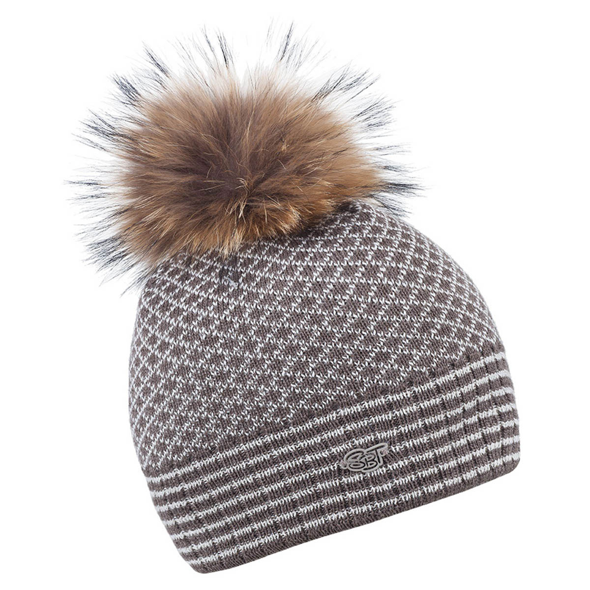 sabbot womens sa1077 crosshatch pompom beanie winter wooly