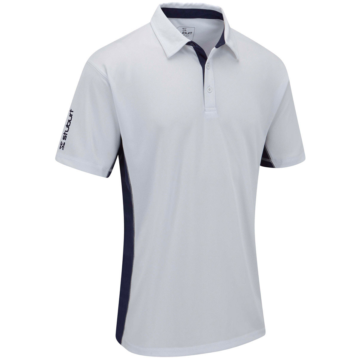 Stuburt 2016 mens sport tech panel short sleeve for Mens golf polo shirts