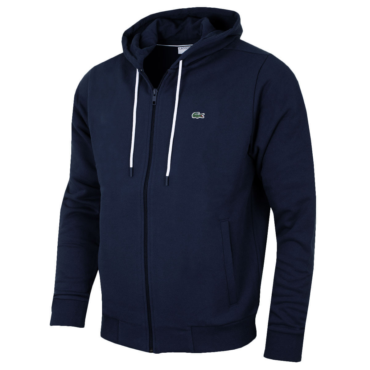 lacoste 2017 mens full zip cotton fleece hoody sh1933 hoodie. Black Bedroom Furniture Sets. Home Design Ideas