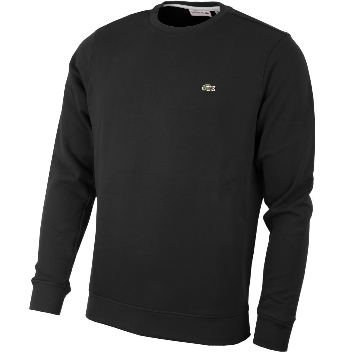 lacoste 2016 mens sh6619 crew neck sweatshirt jumper pullover sweater top ebay. Black Bedroom Furniture Sets. Home Design Ideas
