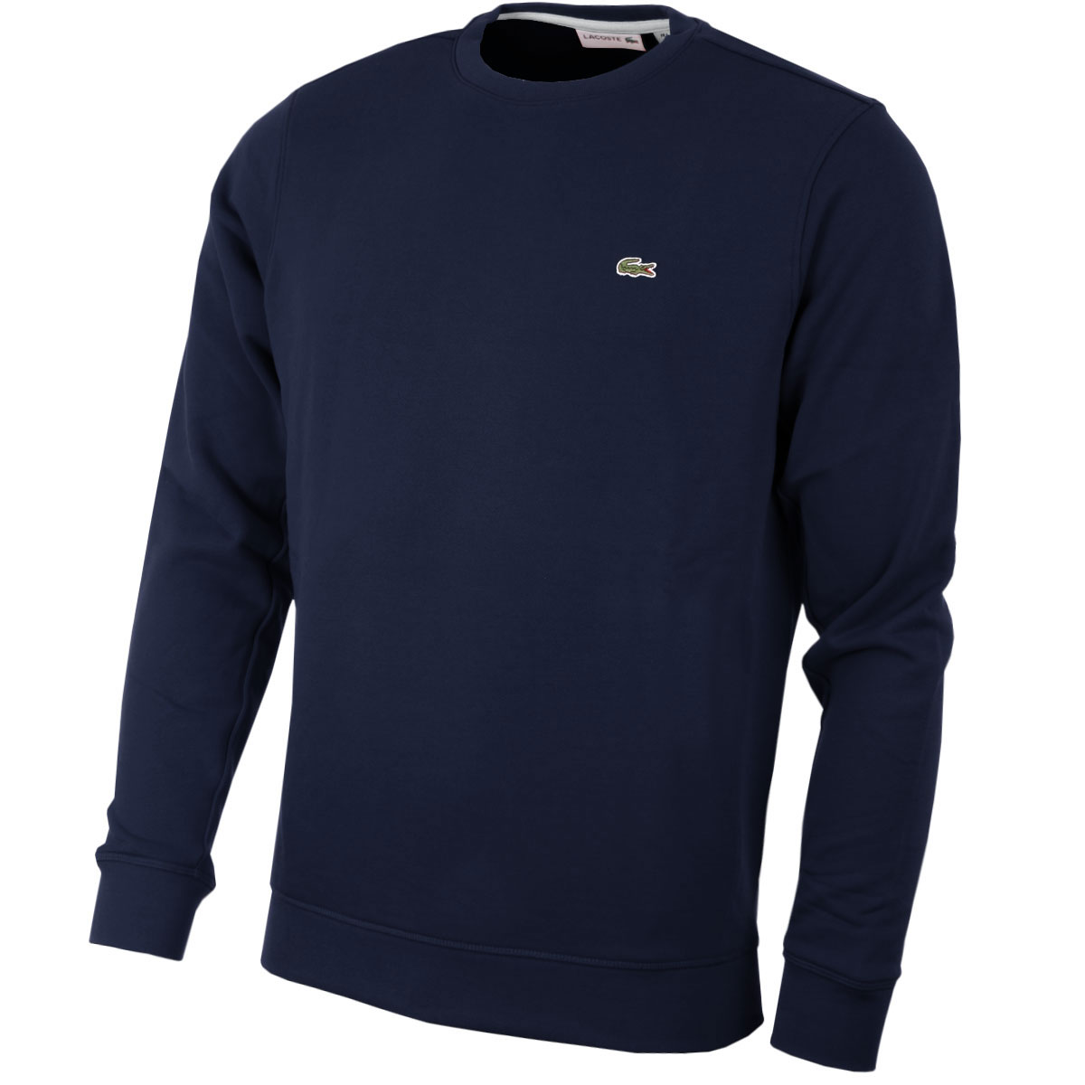 lacoste 2016 mens sh6619 crew neck sweatshirt jumper pullover sweater top. Black Bedroom Furniture Sets. Home Design Ideas