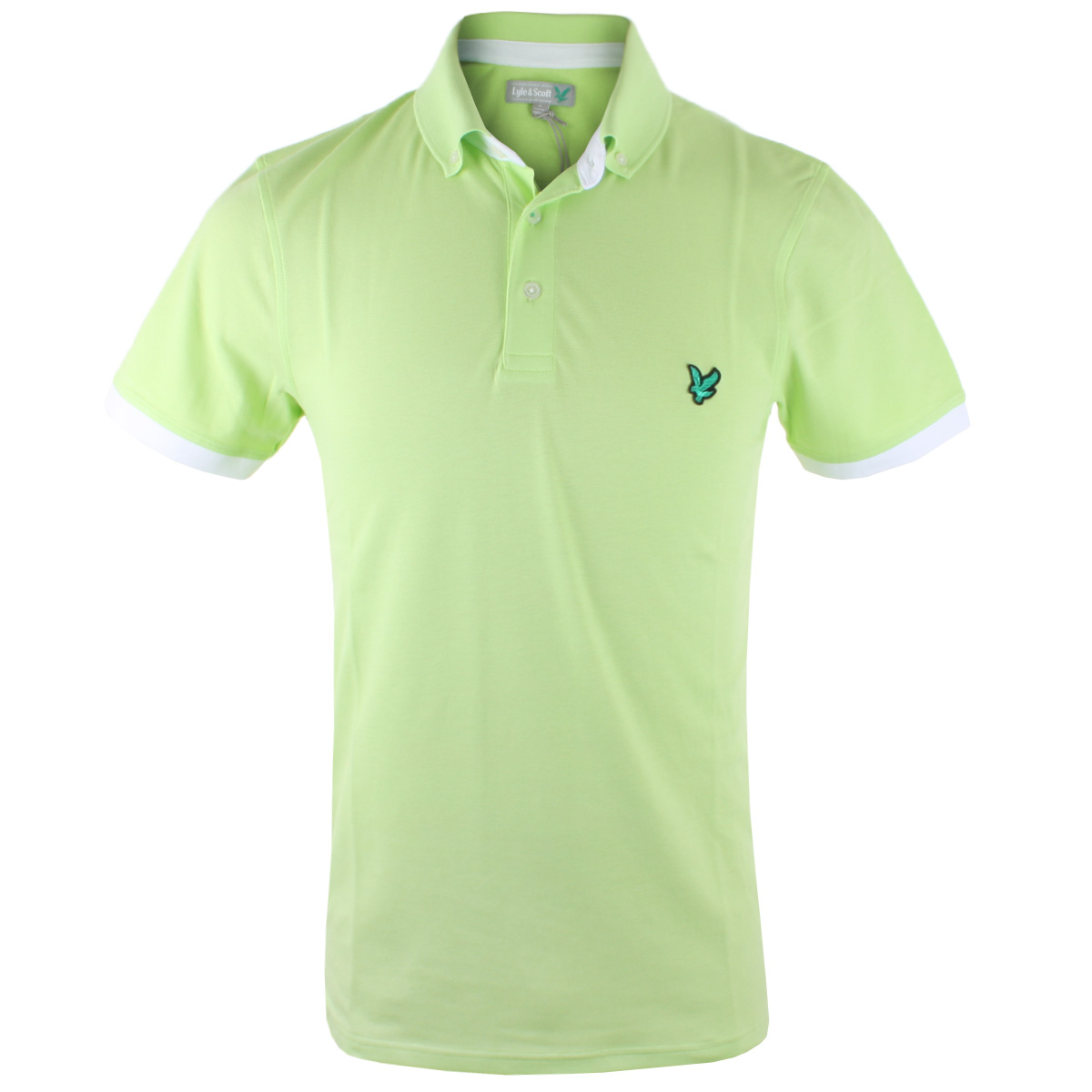 55 off rrp lyle scott mens button down collar golf polo for Mens button collar shirts