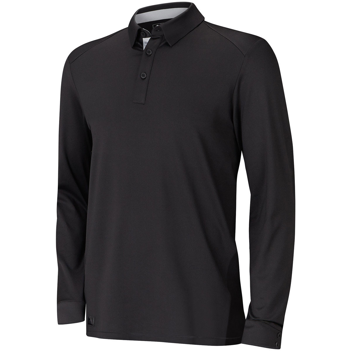Adidas golf 2015 mens fall weight heather long sleeve polo for Mens long sleeve collared polo shirts