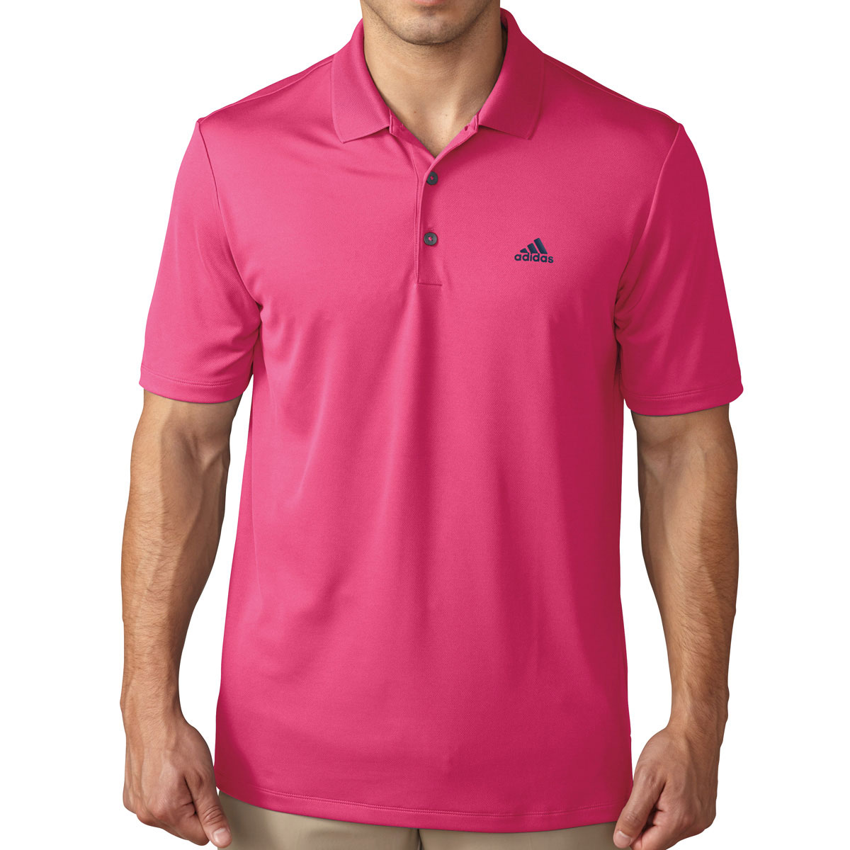 Adidas golf 2017 mens performance lc logo polo shirt for Mens golf polo shirts