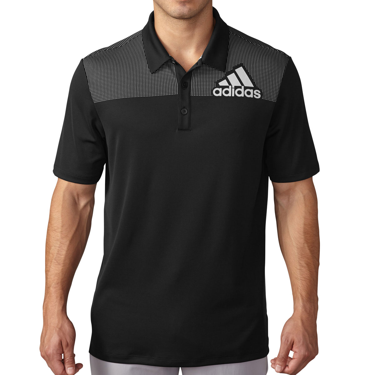 Adidas Golf 2016 Mens Big Logo Dot Print Polo Shirt Quick