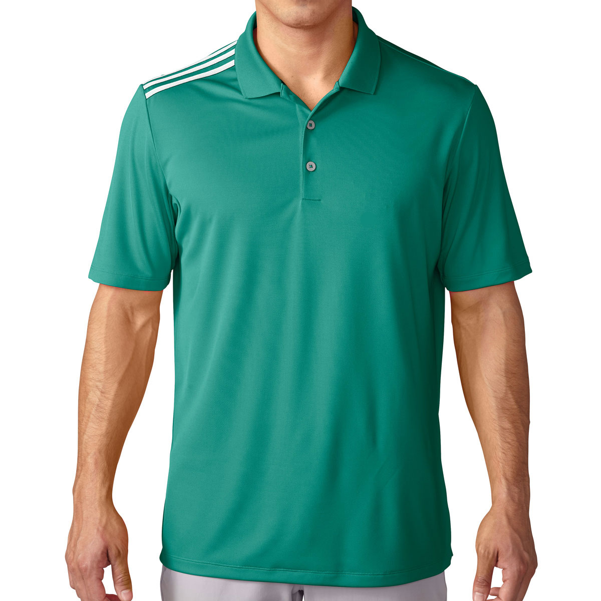 Adidas golf 2016 mens climacool 3 stripes performance polo for Mens golf polo shirts