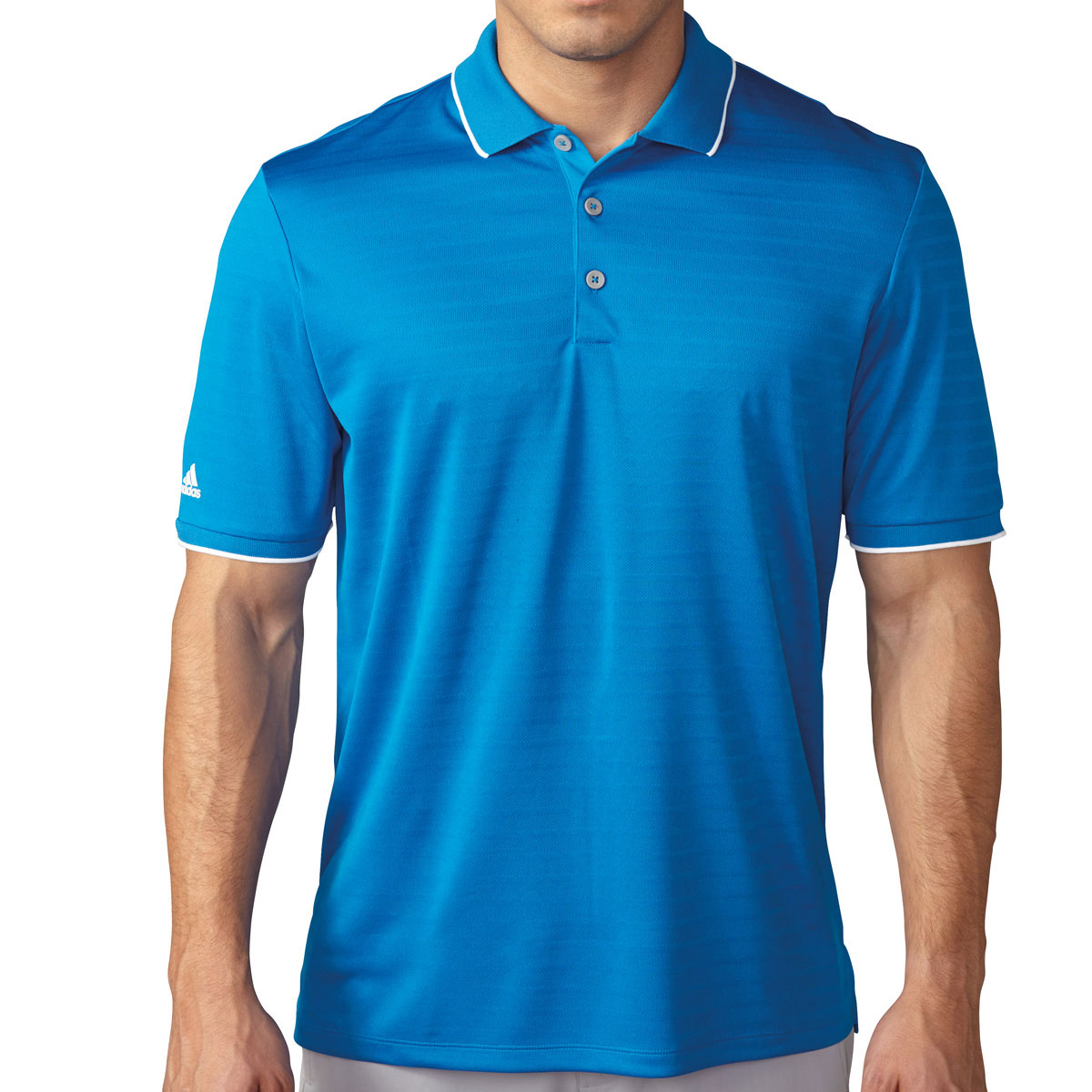 Adidas golf 2016 mens climacool tipped club performance for Polo golf shirts for men
