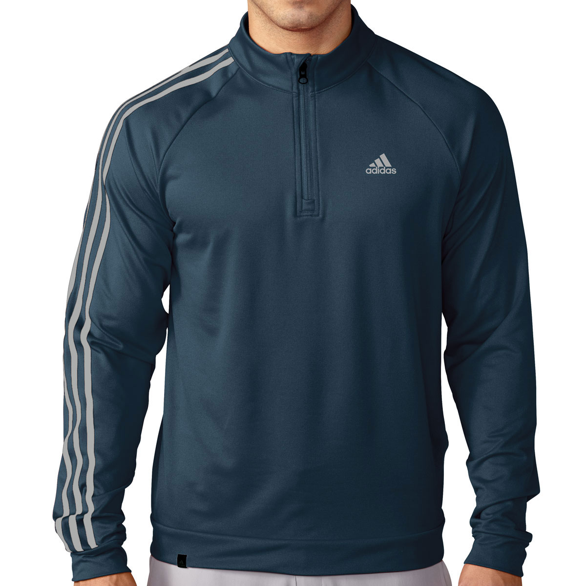adidas golf 2016 mens 3 stripes 1 4 zip lc pullover. Black Bedroom Furniture Sets. Home Design Ideas