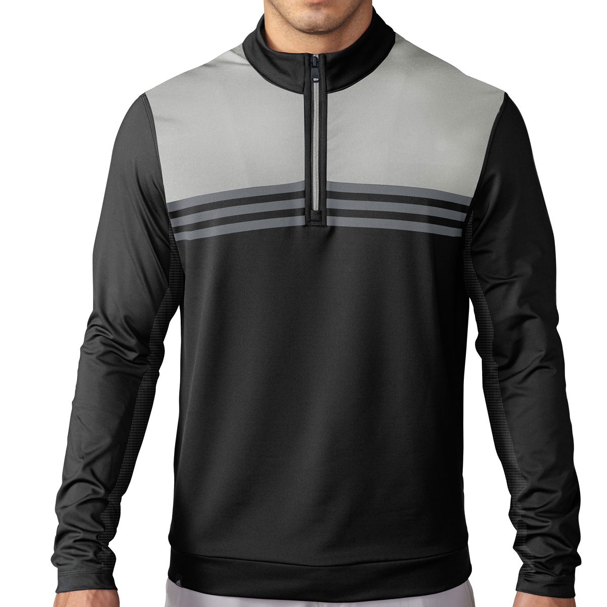 adidas golf 2016 mens climacool colourblock half zip. Black Bedroom Furniture Sets. Home Design Ideas