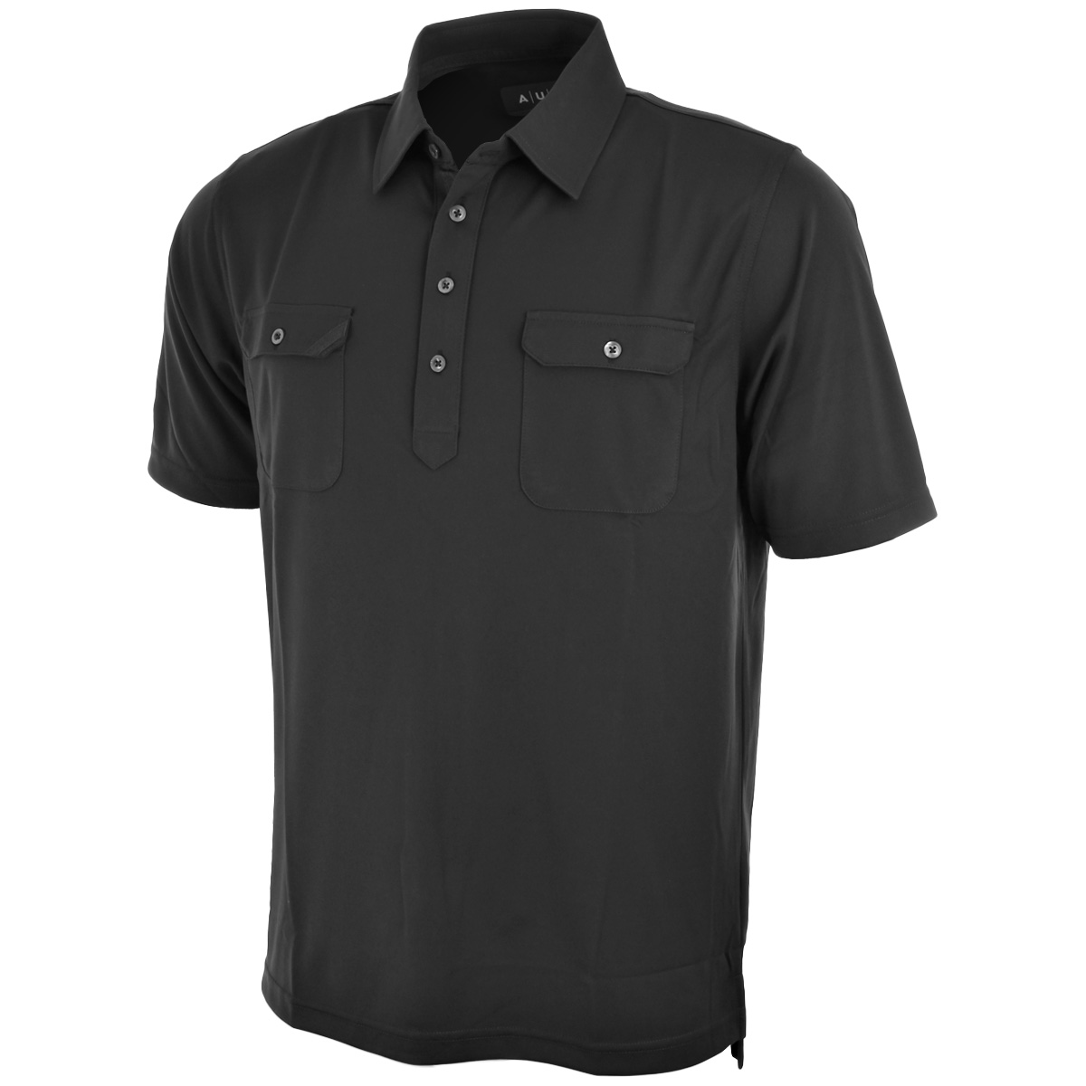 Aur golf mens s cafe double chest pocket golf polo shirt for Two pocket polo shirt