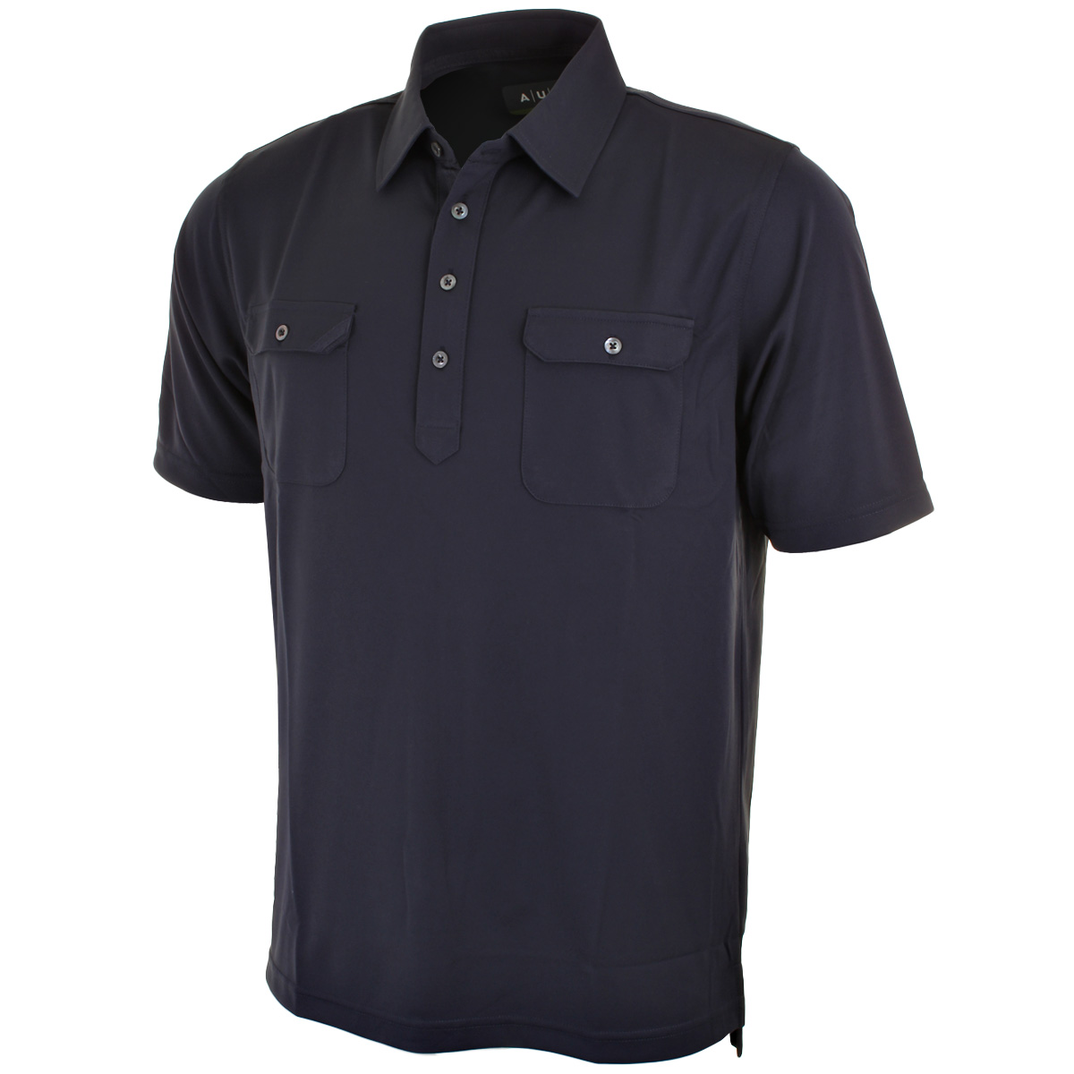 Aur golf mens s cafe double chest pocket golf polo shirt for Men s polo shirts with chest pocket