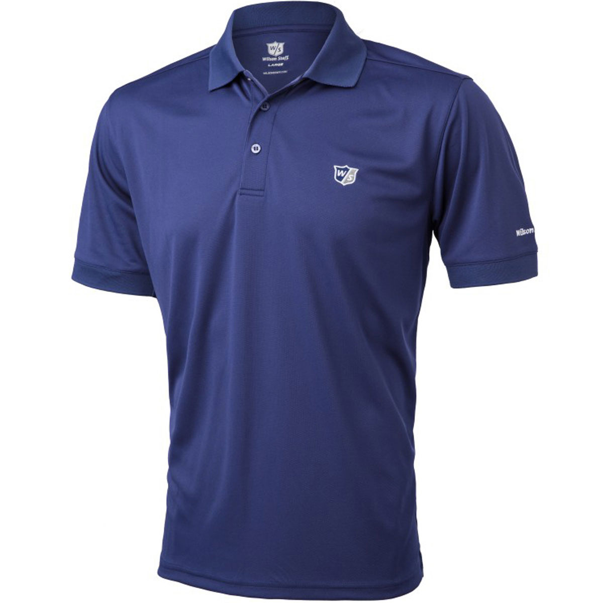 Wilson staff 2016 mens ws authentic performance tech golf for Men s performance polo shirts