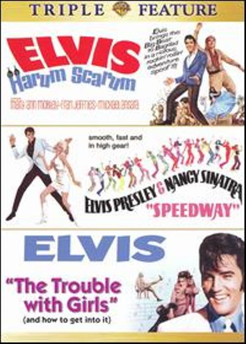 Elvis Presley Harum Scarum + Speedway + Trouble with Girls New DVD Region 4