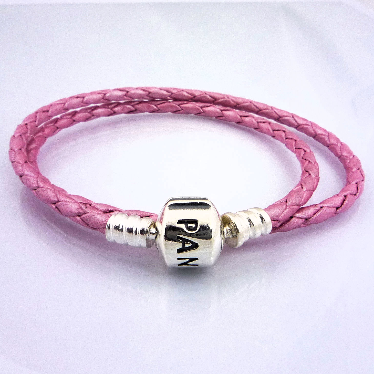 authentic pandora pink double leather bracelet small 35cm