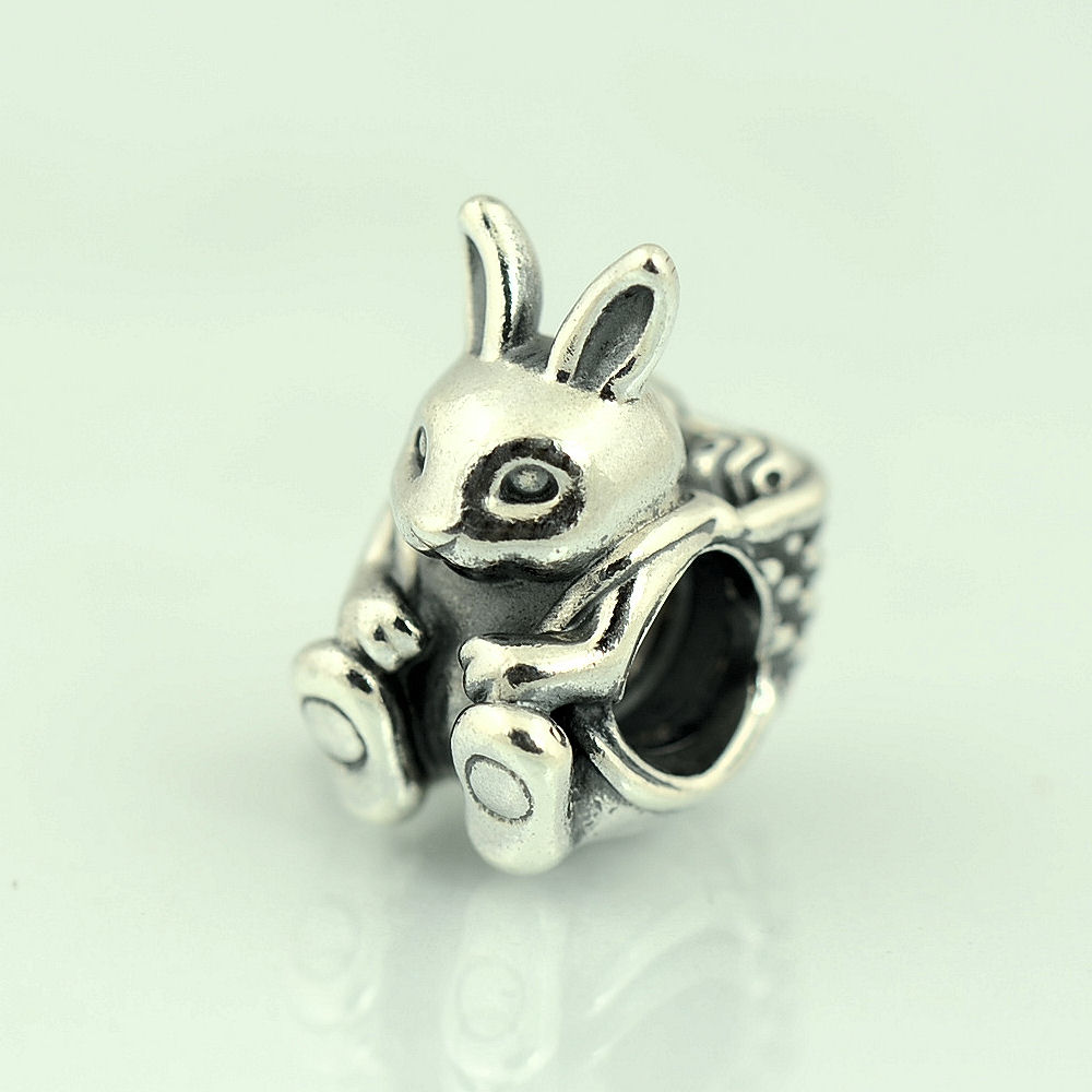 authentic genuine pandora sterling silver easter bunny
