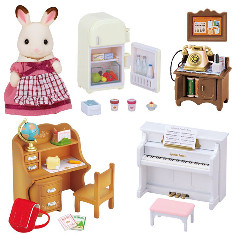 Sylvanian Families Classic Furniture Set For Cosy Cottage Jac In A Box