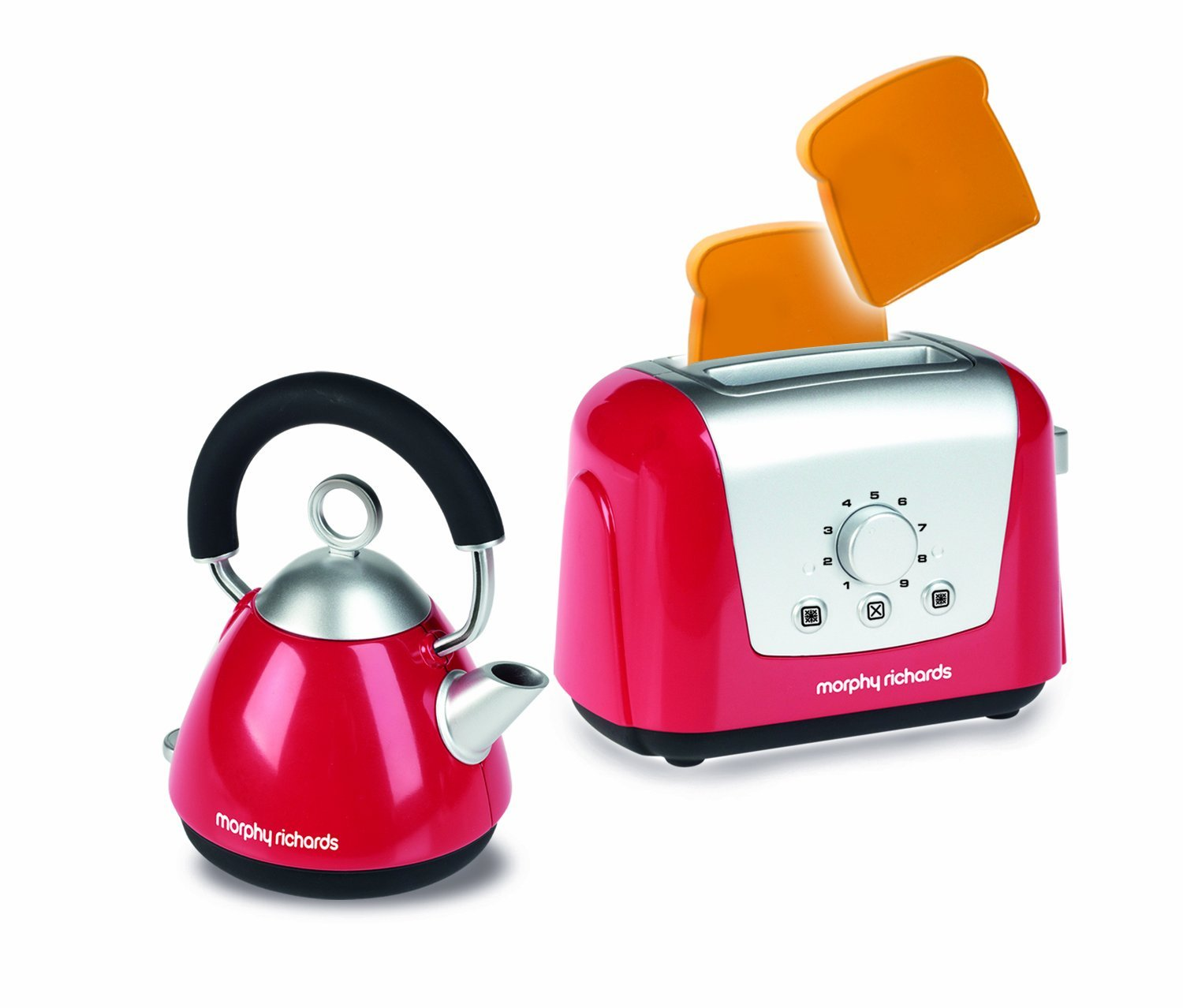 Morphy Richards Kitchen Set: Casdon Morphy Richards Toy Toaster And Kettle Set, Red