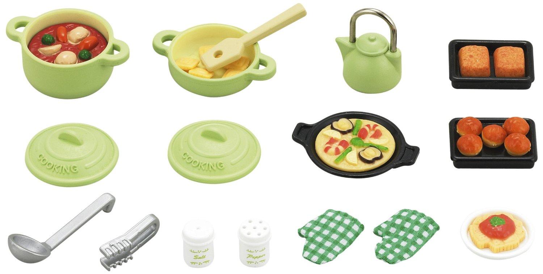 Sylvanian families kitchen cooking set ebay for Kitchen set 2 jutaan