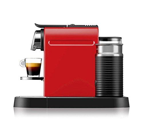 Nespresso XN730540 CitiZ and Milk by Krups Coffee Machine. Fire Engine Red