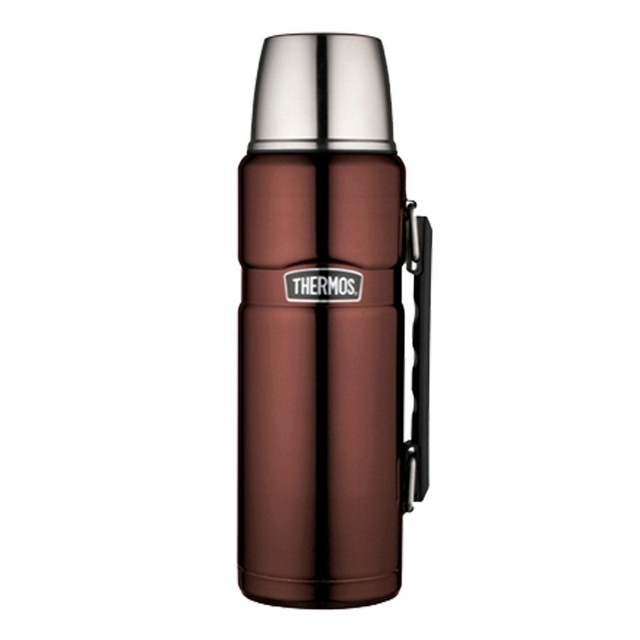 thermos 1 2 litre stainless king flask mocha ebay. Black Bedroom Furniture Sets. Home Design Ideas