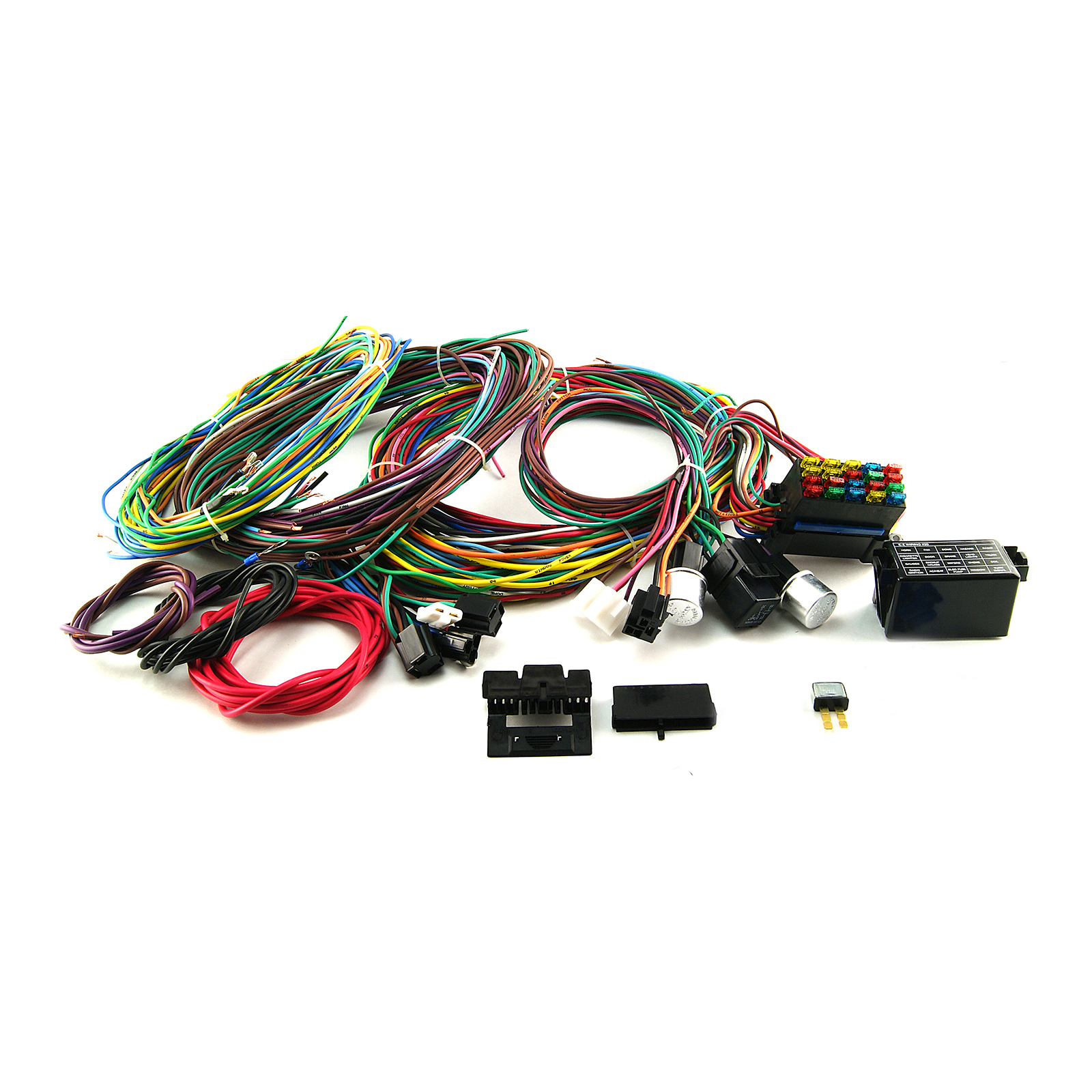 universal 20 circuit wiring harness kit rod rod race car ebay