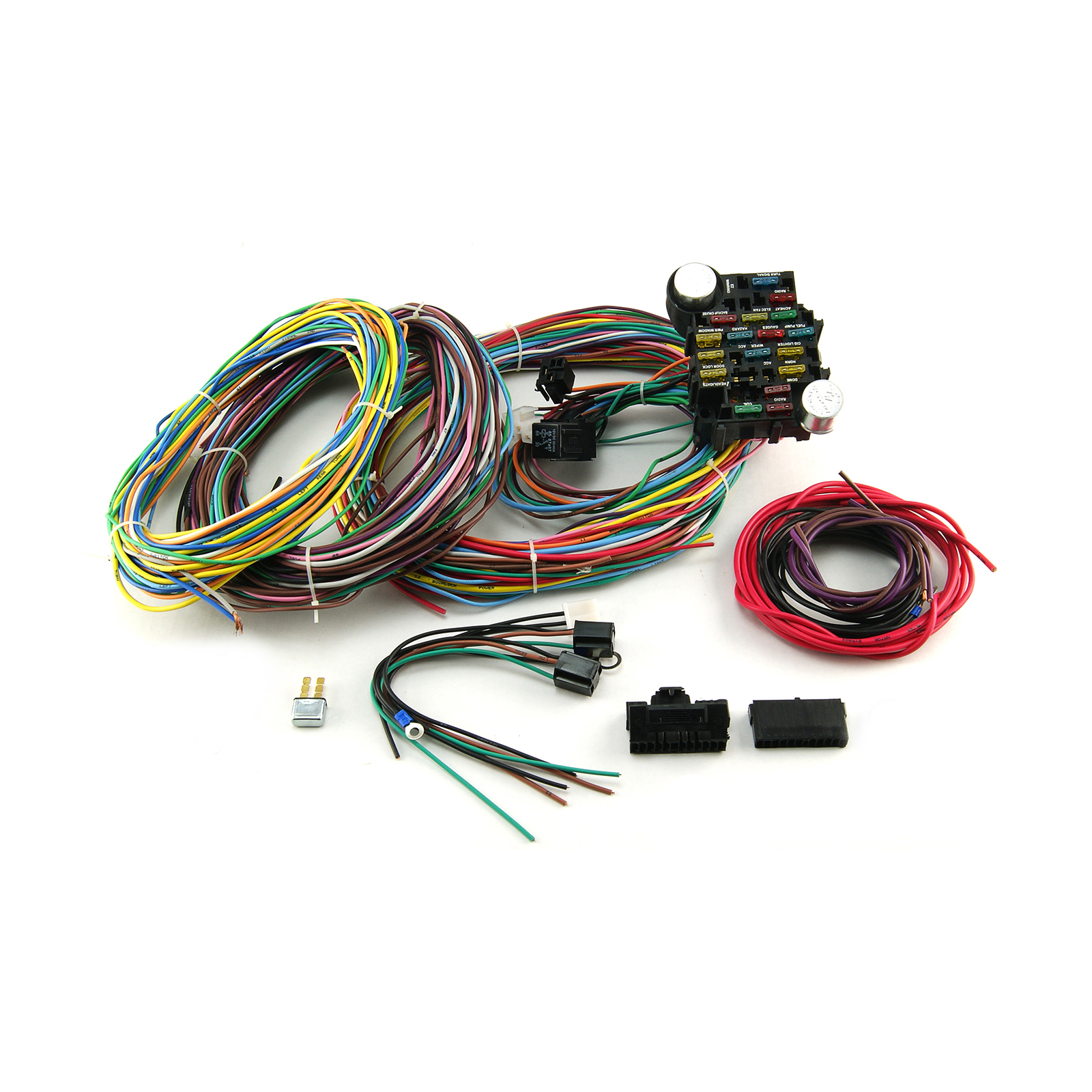 Universal Wiring Harness Kit Diagrams Street Rod 22 Circuit Ebay Jegs Electric Fan Automotive Repair Kits