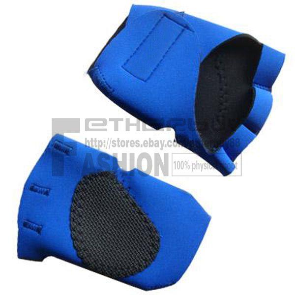 Neoprene Weight Lift Training Workout Gym Palm Exercise: Blue Mens Neoprene Weight Lifting Glove Workout GYM