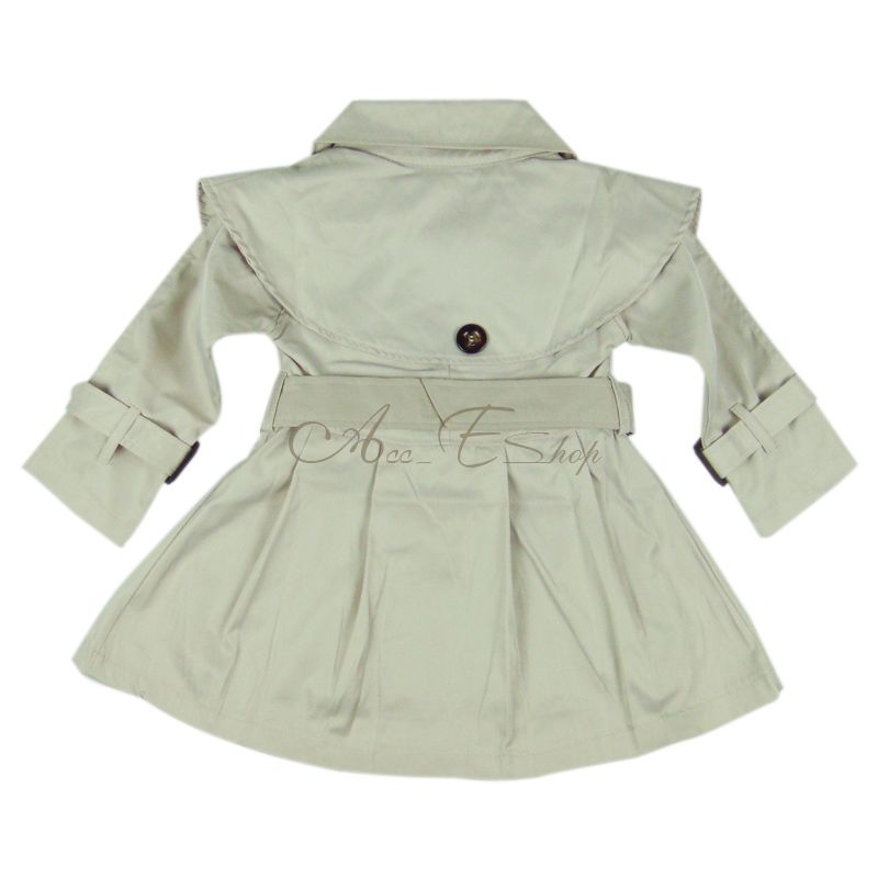 3ee2bc129 New Girl Kids Toddler Autumn Double Breasted Trench Coat Wind Jacket ...