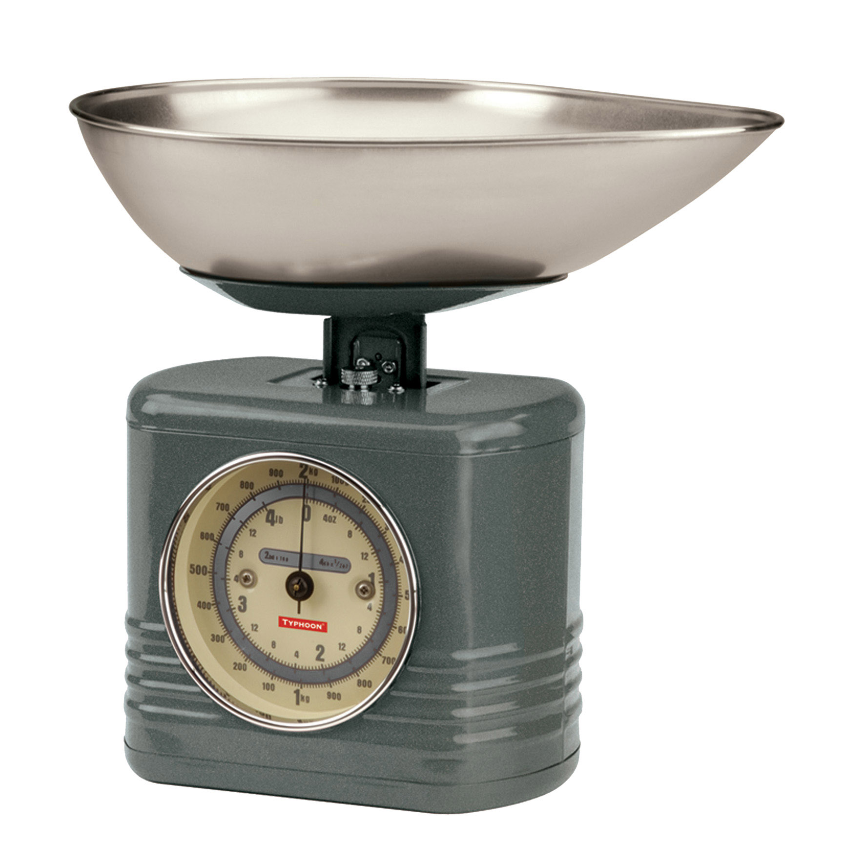 Typhoon Traditional Vintage Kitchen Scales 2kg In Cream