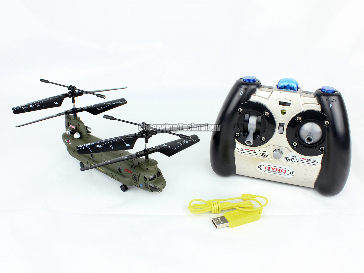 Details about Syma S026G 3-Channel 3.5CH Mini Chinook RC Helicopter W
