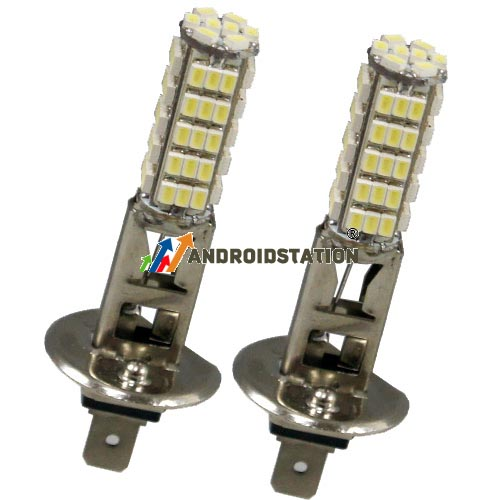 2-x-H1-68-SMD-LED-Birne-Licht-Auto-Lampe-Xenon-weiss-Nebelscheinwerfer-12V