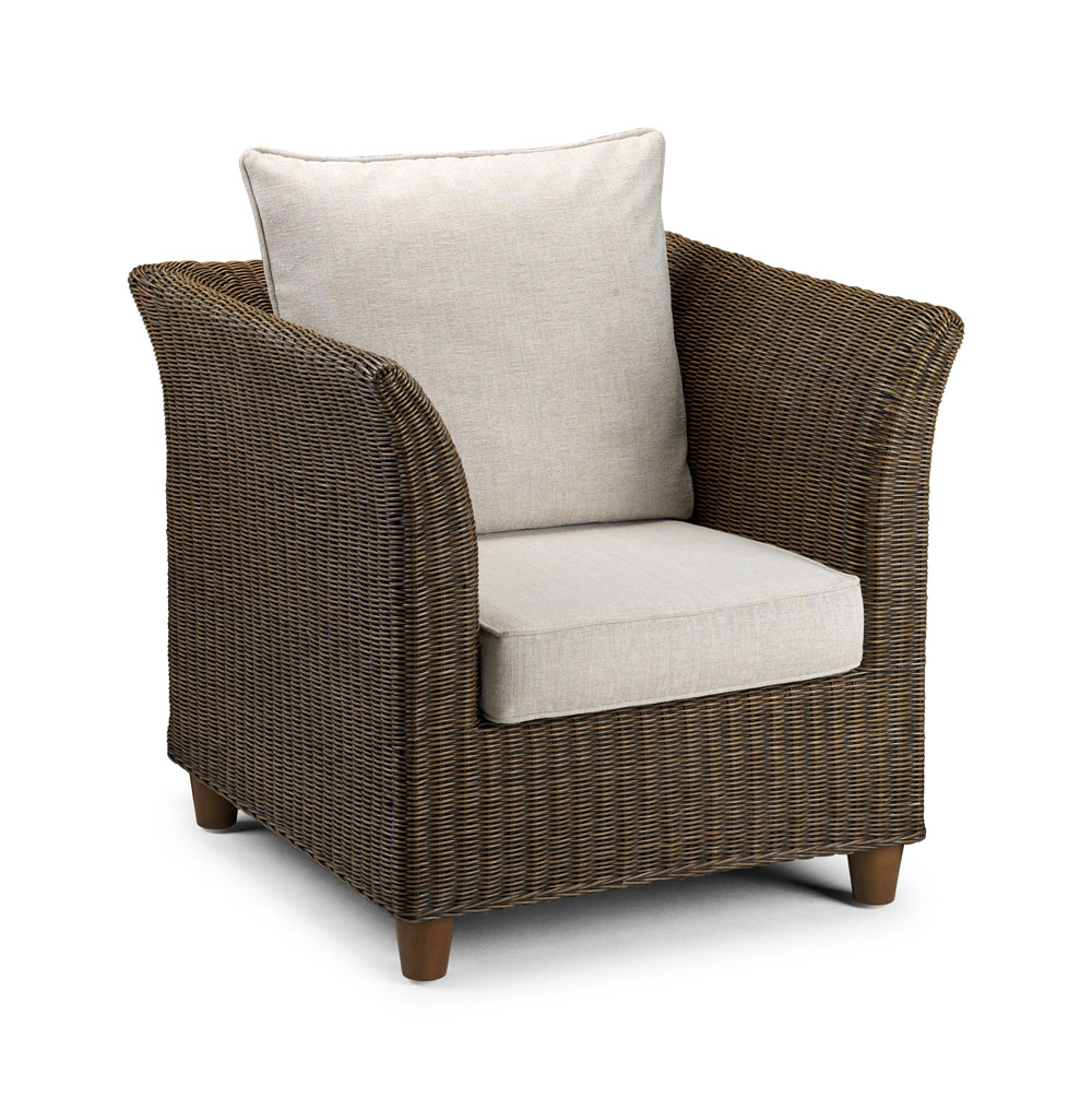 Wicker chair brown conservatory furniture rattan for Furniture at the range