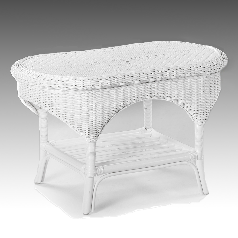 Wicker coffee table white conservatory furniture rattan storage shelf ebay White wicker coffee table