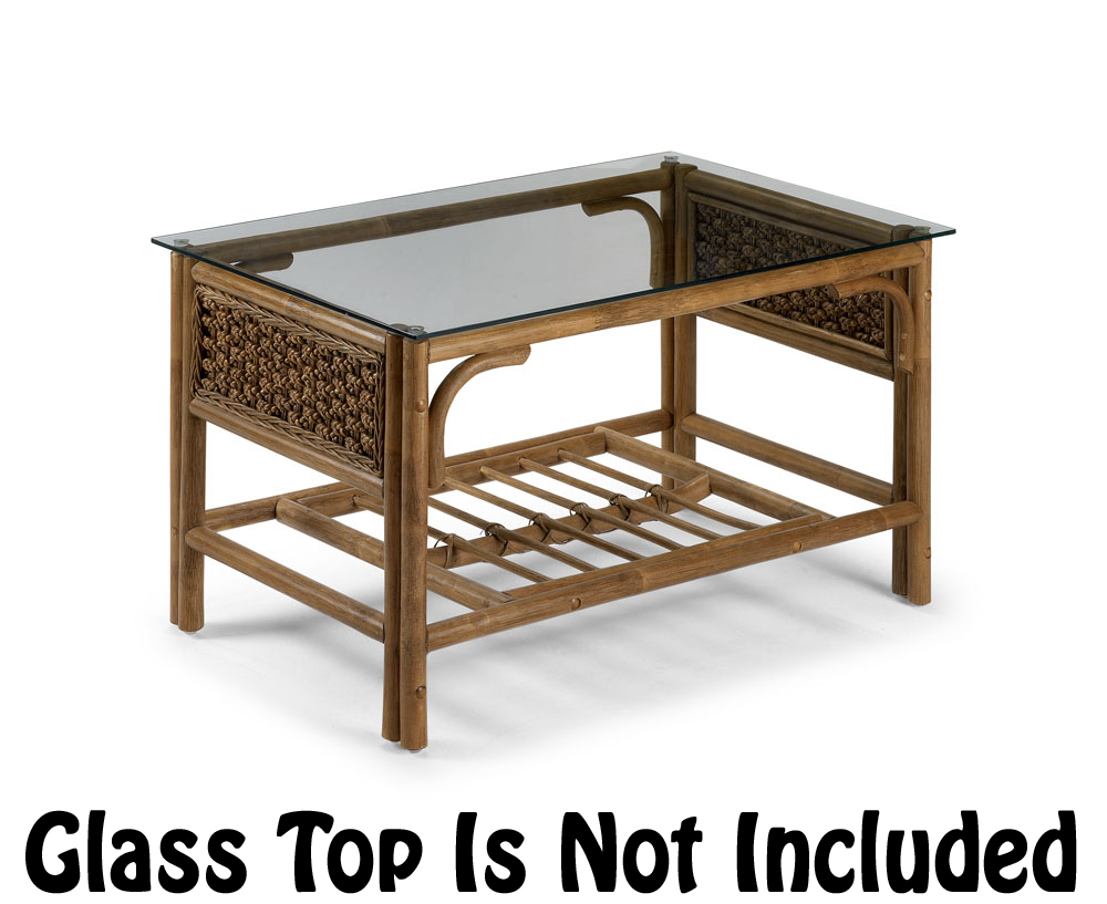 Conservatory Furniture Coffee Table Cane Brown No Glass Top Rock Ebay