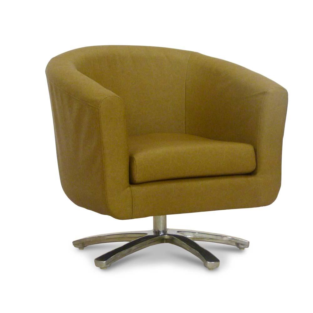 Swivel Leather Tub Chair - Bucket Seat - Lounge Furniture ...