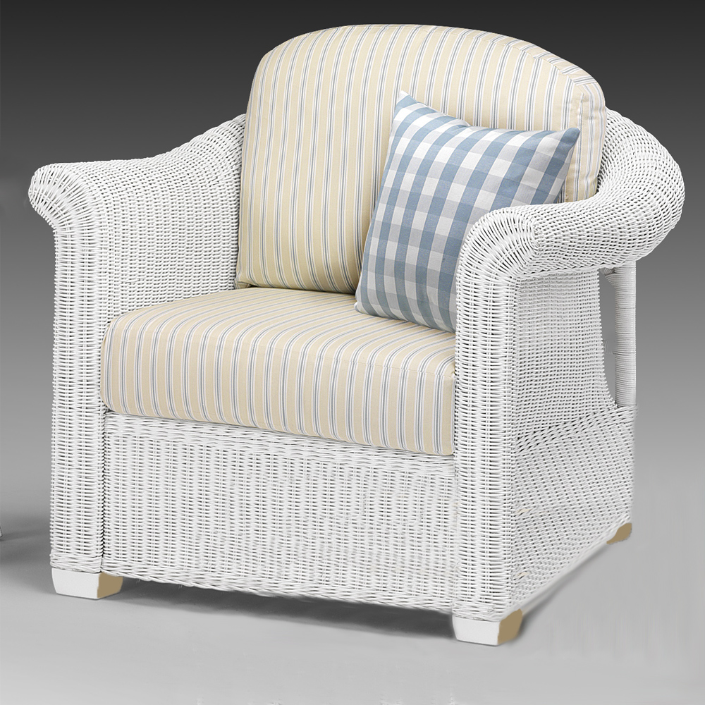 wicker chair white conservatory furniture rattan. Black Bedroom Furniture Sets. Home Design Ideas