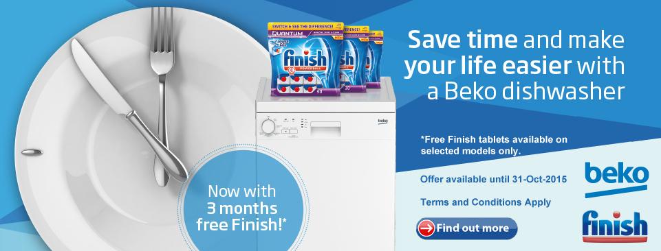 Beko Dishwasher Finish Promotion