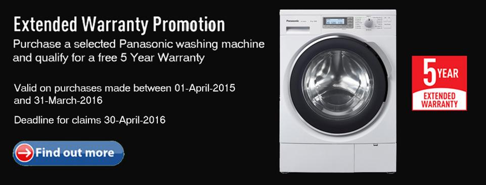 Panasonic Washing Machine Warranty Promotion