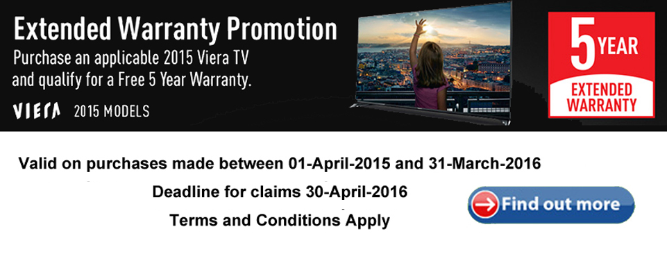 Panasonic Viera TV 5 Year Warranty Offer