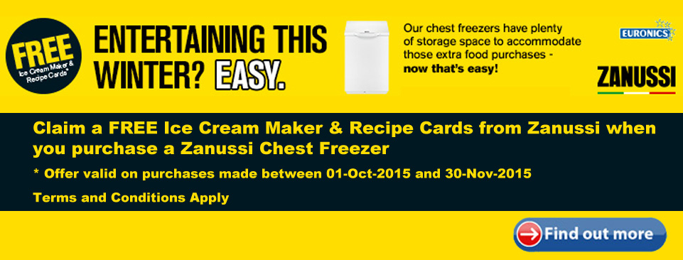Zanussi Ice Cream Maker Offer