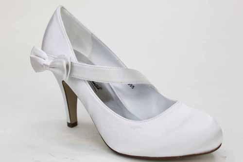 Womens Round Toe White Wedding Bridal Heels Shoes | eBay
