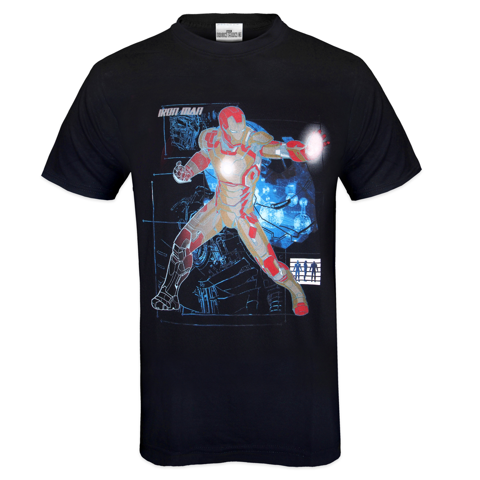 Marvel comics official gift mens character t shirt iron for Iron man shirt for men