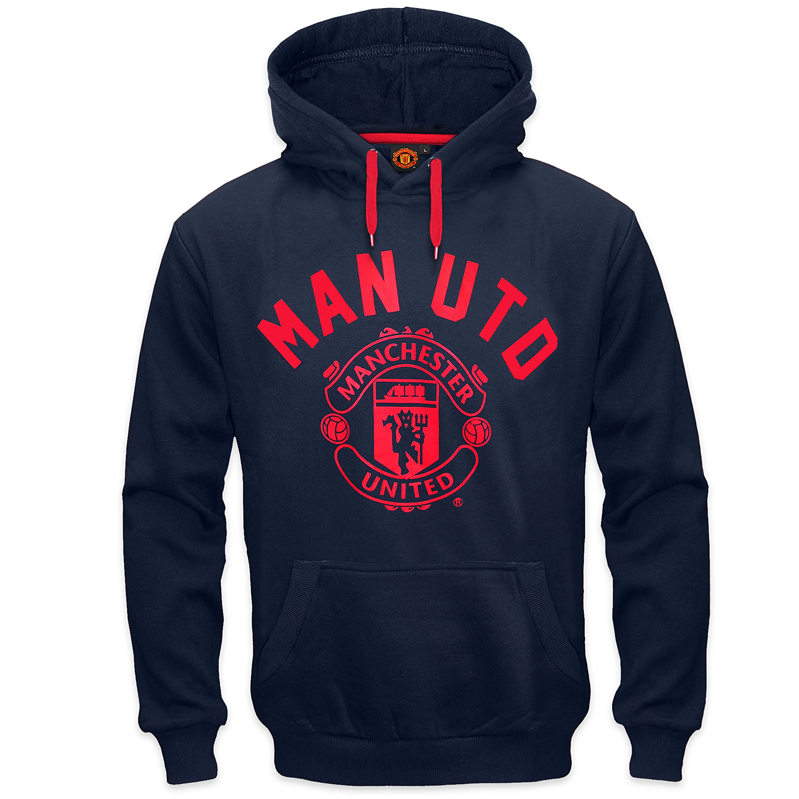 Manchester United FC Official Football Gift Mens Fleece Hoody