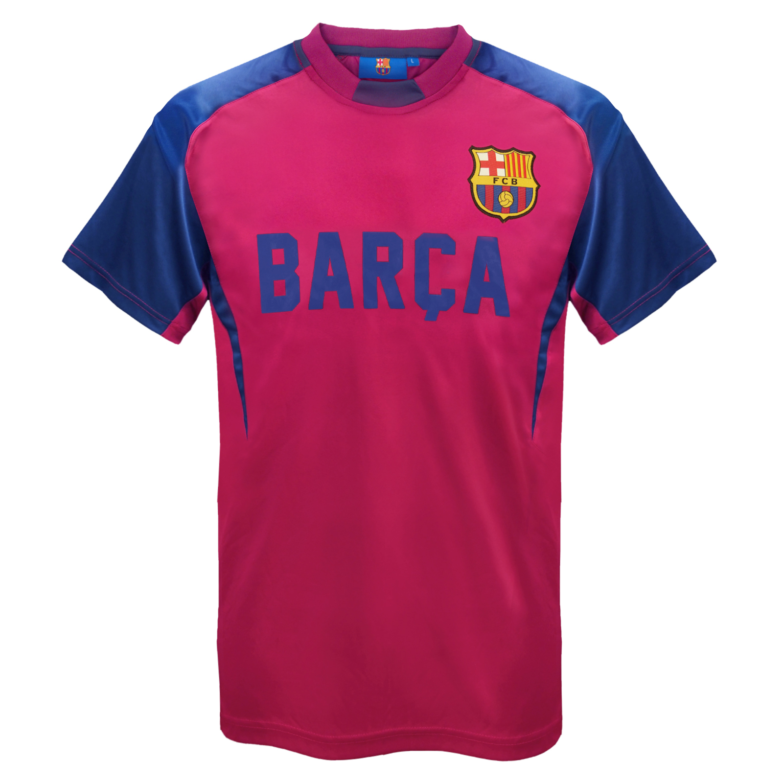 fc barcelona official football gift mens poly training kit t shirt ebay. Black Bedroom Furniture Sets. Home Design Ideas