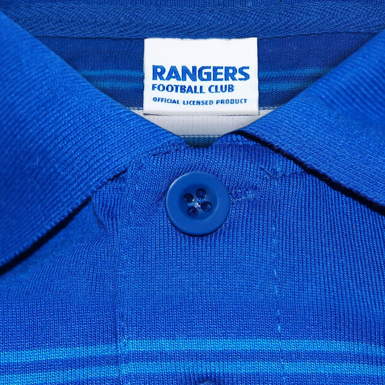 Rangers FC Officiel Football Cadeau Pour Homme À Rayures Polo Shirt